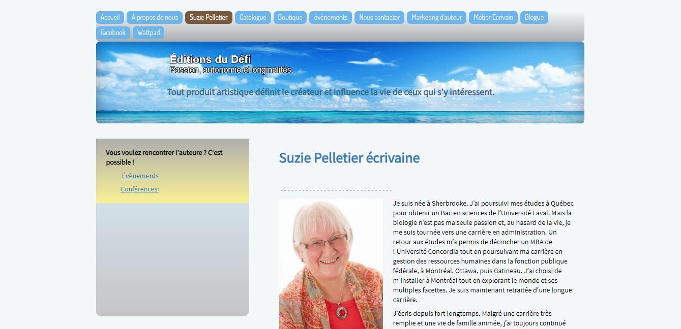 Site d'auteur - Suzie Pelletier